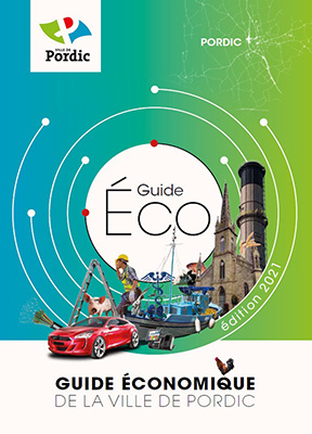Couverture Guide économique 2021 de la Ville de Pordic